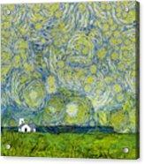 Starry Ballintoy Church Acrylic Print