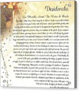 Starry Guardian Angel Desiderata Acrylic Print
