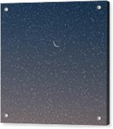 Starry Morning Sky Acrylic Print