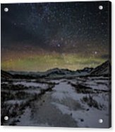 Starry Night In Iceland Acrylic Print