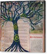 Starry Night-inspired Tree Acrylic Print