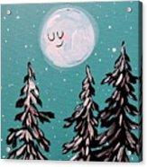 Starry Night Moon  Acrylic Print