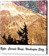Starry Night Over Mount Baker Acrylic Print