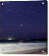 Starry Night Seascape Acrylic Print