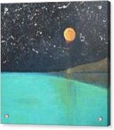 Starry Sky Above The Ocean Acrylic Print