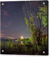 Starry Sky Over Lake Champlain New York Acrylic Print