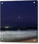 Starry, Starry Night At Catherine Hill Bay Acrylic Print