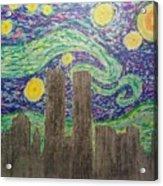 Starry Towers Acrylic Print