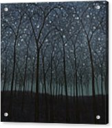 Starry Trees Acrylic Print