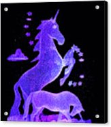 Starry Unicorns Acrylic Print