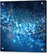 Stars And Bokeh Acrylic Print