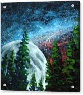 Stars And Moon Acrylic Print