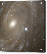 Stars And Spiral Galaxy Acrylic Print