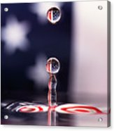 Stars And Stripes And H20 Acrylic Print