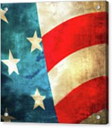Stars And Stripes Curved Acrylic Print