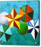 Stars Circles And Hexagons Acrylic Print