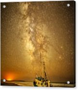Stars Over Fishing Boat Acrylic Print