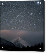Stars Over Rocky Mountain National Park Acrylic Print by Pat Gaines