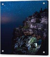Stars Over The Grotto Acrylic Print