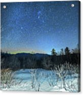 Stars Over The New Hampshire White Mountains Acrylic Print