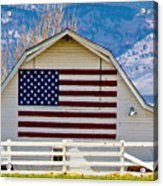 Stars Stripes And Barns Acrylic Print