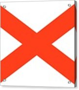 State Flag Of Alabama Acrylic Print