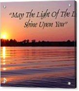 State Lake Sunset Acrylic Print