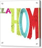State Of Oklahoma Typography Acrylic Print