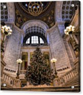 Stately Christmas Tree Acrylic Print