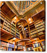 Stately Library Acrylic Print