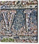 Station 6 Faded - San Juan Capistrano Acrylic Print