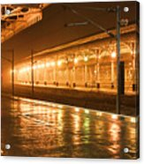Station At Night Acrylic Print by Tony Grider
