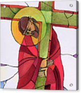 Stations Of The Cross - 02 Jesus Accepts The Cross - Mmjcs Acrylic Print