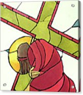 Stations Of The Cross - 07 Jesus Falls A Second Time - Mmjti Acrylic Print