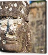 Statue At Angkor Thom Acrylic Print