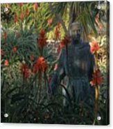 Statue In The Garden  Acrylic Print