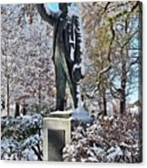 Statue In The Snow Acrylic Print