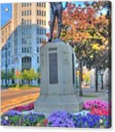 Statue In The Square Acrylic Print
