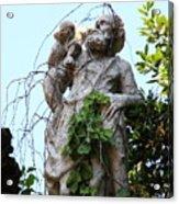 Statue In Venice Acrylic Print