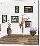 Statue Of A Dancing Girl On Ice 2 Acrylic Print