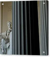 Statue Of Abraham Lincoln Is Seen Acrylic Print