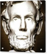 Statue Of Abraham Lincoln - Lincoln Memorial #5 Acrylic Print