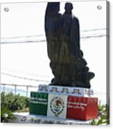 Statue Of Benito Pablo Juarez Garcia  Acrylic Print