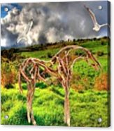 Statue Of Branches 3 Acrylic Print
