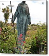 Statue Of Father Serra At Carmel Mission Acrylic Print