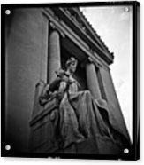 Statue Of Justice At The Courthouse In Memphis Tennessee Acrylic Print