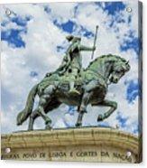 Statue Of King John I Lisbon Acrylic Print