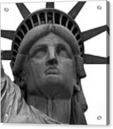 Statue Of Liberty B/w Acrylic Print by Lorena Mahoney