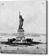 Statue Of Liberty, C1886 Acrylic Print