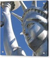 Statue Of Liberty Restaurant Courtyard Chandler Arizona 2005 Acrylic Print